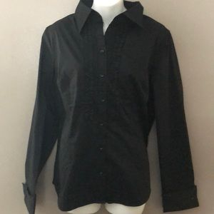New York and company stretch button up tux style